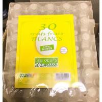 30 OEUFS FRAIS BLANC MOYEN